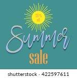 summer  background for design... | Shutterstock .eps vector #422597611