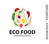 vector simple flat food logo.... | Shutterstock .eps vector #422601685