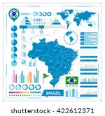 vector map of brazil and... | Shutterstock .eps vector #422612371