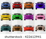 vector car icons front view | Shutterstock .eps vector #422612941