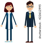 two people. successful people.... | Shutterstock .eps vector #422612995