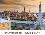 grand palace and wat phra keaw... | Shutterstock . vector #422614144
