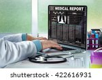 physician in consultation with...   Shutterstock . vector #422616931