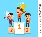 businessmen winner standing on...   Shutterstock .eps vector #422619637
