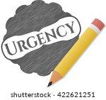 urgency pencil draw   Shutterstock .eps vector #422621251