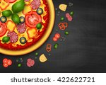 realistic vector pizza recipe... | Shutterstock .eps vector #422622721