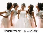 bright photo of the bride and... | Shutterstock . vector #422623501