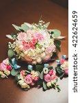 wonderful luxury wedding... | Shutterstock . vector #422624659