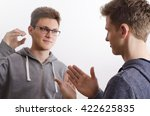 two teenagers communicating... | Shutterstock . vector #422625835