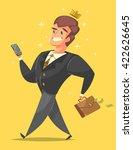 successful  happy businessman... | Shutterstock .eps vector #422626645