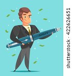 businessman in a suit. cartoon... | Shutterstock .eps vector #422626651