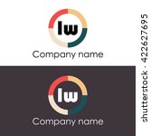 lw letters business logo icon...   Shutterstock .eps vector #422627695
