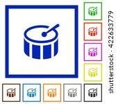 set of color square framed drum ...
