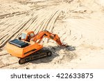 industrial extraction of sand.  | Shutterstock . vector #422633875