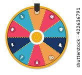 lucky wheel  close up  vector... | Shutterstock .eps vector #422636791