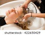 hair stylist at work  ...   Shutterstock . vector #422650429