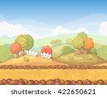 cute cartoon seamless landscape ...