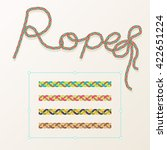 rope brush braid for decoration ... | Shutterstock .eps vector #422651224