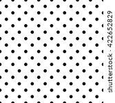 Tile Pattern With Black Polka...