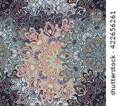 seamless round ornament pattern ... | Shutterstock .eps vector #422656261