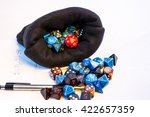 Pot Of Dice In A Cloth Style...