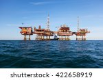 oil platform at day light | Shutterstock . vector #422658919