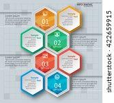 vector abstract 3d paper... | Shutterstock .eps vector #422659915