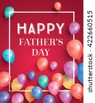 happy fathers day card with... | Shutterstock .eps vector #422660515