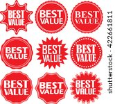 best value red label. best... | Shutterstock .eps vector #422661811