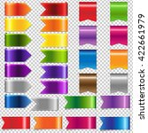 web ribbon big set  isolated on ... | Shutterstock .eps vector #422661979