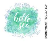 Watercolor Sea Vector...