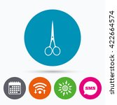 wifi  sms and calendar icons.... | Shutterstock .eps vector #422664574
