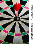 darts arrows in the target... | Shutterstock . vector #422667061