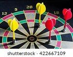 darts hit the target  dart... | Shutterstock . vector #422667109