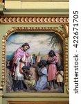 Small photo of ZAGREB, CROATIA - SEPTEMBER 14: Saint Francis Xavier, altarpiece in the Basilica of the Sacred Heart of Jesus in Zagreb, Croatia on September 14, 2015