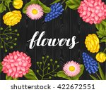 invitation card with garden... | Shutterstock .eps vector #422672551