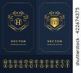 line graphics monogram. modern... | Shutterstock .eps vector #422674375