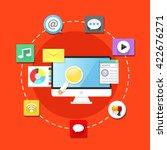 digital marketing  business... | Shutterstock .eps vector #422676271
