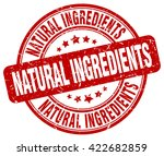 Natural Ingredients Red Grunge...