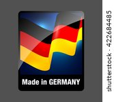 made in germany. deutsche logo. ... | Shutterstock .eps vector #422684485