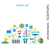 summer icon outline set for... | Shutterstock .eps vector #422691691