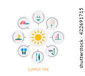 icons set for summer holiday... | Shutterstock .eps vector #422691715