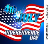 4th of july. fourth of july.... | Shutterstock .eps vector #422692819