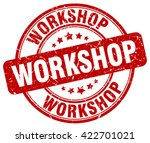 workshop. stamp | Shutterstock .eps vector #422701021