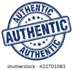 authentic. stamp | Shutterstock .eps vector #422701081