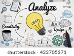 associates brainstorming... | Shutterstock . vector #422705371