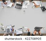 business meeting team... | Shutterstock . vector #422708905