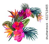 vector bouquet with tropical... | Shutterstock .eps vector #422713405