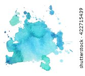 abstrct watercolor spot with... | Shutterstock .eps vector #422715439