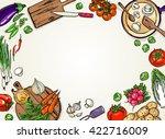 cooking sketchy banner. top...